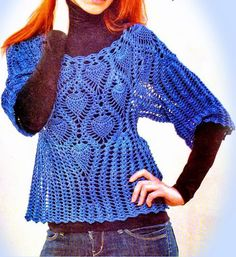 Crochet Lace Sweater Fee Pattern
