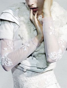 Rodarte dress photographed by Jamie Morgan for POP Fall/Winter 2010