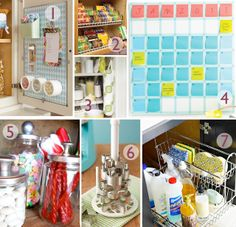 I have to pin this, coolest way to use a dry erase calendar and post it notes!! Also love the cleaning storage pull out. Great if it's away from small hands.
