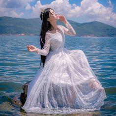 Thương suri° Set Fashion, Asian Fashion, Girl Fashion, Fashion Dresses, Pretty Dresses, Beautiful Dresses, Uzzlang Girl, Fantasy Dress, Beautiful Asian Girls