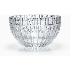 Diamond-cut Bowl ❤ liked on Polyvore featuring home, kitchen & dining, serveware, lead crystal bowl and round bowl