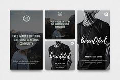 Pablo: Social Media Template by Nice, Very Nice! Social Media Logos, Social Media Template, Social Media Design, Vsco Themes, Instagram Story Template, Instagram Templates, Youtube Channel Art, Image Gifts, For Facebook