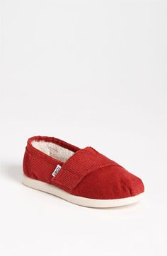 TOMS 'Classic - Tiny' Corduroy Slip-On (Baby, Walker & Toddler) available at #Nordstrom
