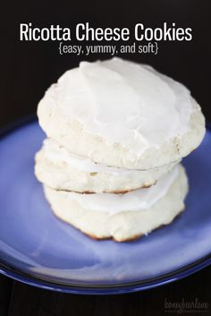 ricotta cheese cookies recipe - this is one of my favorite desserts, so tasty and easy to make!