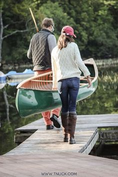 thepreppyyogini:  Canoeing in Maine.