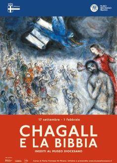"""Locandina della mostra """"Chagall e la Bibbia"""" presso il Museo Diocesano di Milano"""