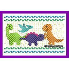 Faux Smocked Dinosaur Embroidery Design / Applique Junkie