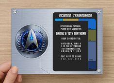 Star Trek Party Invitation  Digital File by TLCArts on Etsy