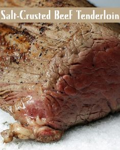 Salt-Crusted Beef Tenderloin