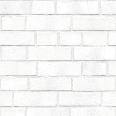 Brick White Textured Self Adhesive Wallpaper design by Tempaper