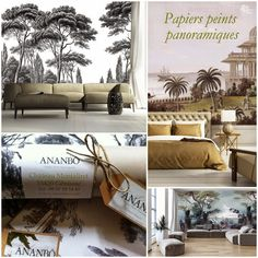 Ananbô, dress your walls and landscape . Scenic Wallpaper, Landscape Wallpaper, Wall Wallpaper, Country House Interior, Tiles Texture, Interior Decorating, Interior Design, Large Wall Art, Beautiful Interiors