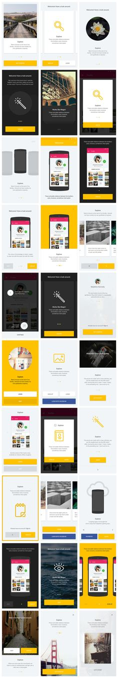 UI: Nice minimal use of color, text, white space for things like messaging, interstitials, modals, etc. Material UI Kit