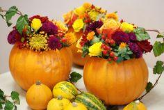 Pumpkin table decorations