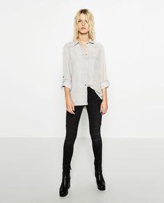 Image 1 of DENIM SHIRT from Zara