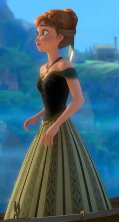 Read the full title Princess Anna PDF stencil templates for Coronation green dress