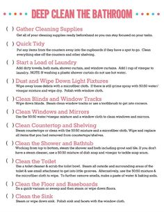 14 Clever Deep Cleaning Tips & Tricks Every Clean Freak Needs To Know Deep Cleaning Tips, House Cleaning Tips, Cleaning Solutions, Spring Cleaning, Cleaning Hacks, Cleaning Checklist, Cleaning Lists, Cleaning Schedules, Speed Cleaning