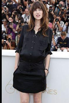 Le look noir et blanc de Charlotte Gainsbourg à Cannes - L'Express