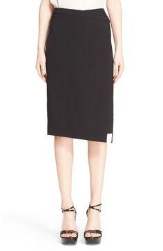 MICHAEL KORS Belted Wool Wrap Skirt. #michaelkors #cloth #