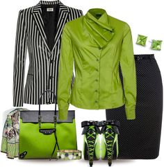 """""""Lime for Office"""" by yasminasdream on Polyvore"""