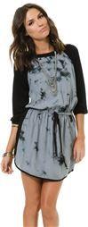 ANGIE DRAWSTRING TIE DYE RAGLAN DRESS > Womens > Clothing > Dresses | Swell.com