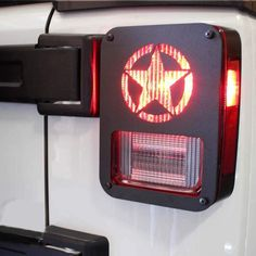 Jeep Wrangler Accessories - Jeep Wrangler Tail Light Guard, Five Star Taillight Cover for 2007-2018 Wrangler JK & Wrangler Unlimited - Pair Jeep Wrangler Lights, 2017 Jeep Wrangler, Jeep Jk, 4x4, Wrangler Unlimited, Light Covers, Tail Light, Army, Military