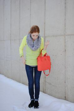 Sweatshirt: Anthropologie  Scarf: LOFT  Jeans: Gap  Shoes: c/o Minnetonka  Laptop Bag: Marc by Marc Jacobs c/o Shopbop
