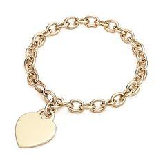 Tiffany Heart-Tag charm bracelet. 18k gold.