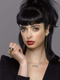 Krysten Ritter.  Listed (or ranked) 31 on the list The Most Gorgeous Women with Doe Eyes
