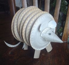 armadillo paper plate craft - so absurd, it gave me a good laugh