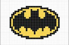 May print this out and do perler beads instead. Beaded Cross Stitch, Cross Stitch Embroidery, Embroidery Patterns, Cross Stitch Patterns, Knitting Charts, Knitting Patterns, Logo Batman, Stitch Cartoon, Pixel Pattern