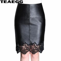 TEAEGG Slim Plus Size High Waist Leather Skirt Famale Mini Sexy Lace Skirts Womens 2019 Viage Black Pencil Skirts Price history. Blouse And Skirt, Lace Skirt, Mini Skirt, Pencil Skirt Black, Pencil Skirts, Plus Size Pants, Sexy Skirt, Leather Fashion, Pu Leather
