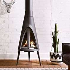 With a unique shape inspired by the tipis of Native American culture, Tipi brings a touch of desert chic to your living room. This stove...