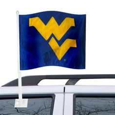 Whether you are driving into town on I-79, I-68, or a country road, this WVU car flag is a great way to show your Mountaineer game day spirit.