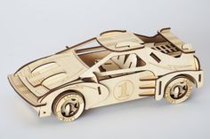 3-D car puzzle.  This would make a great father/son project.