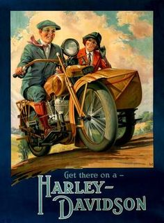 Walls need presents too | Harley-Davidson Museum Shop - 1928 Sidecar Poster : Posters and Framed Art Prints Available