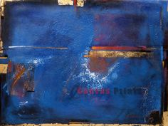 """""""Blue Modern"""" Limited Edition Giclee Print on Canvas."""