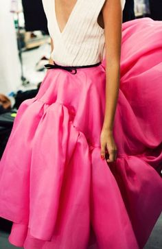 Jason Wu S/S 2012 by Jamie Beck - skirt & belt almost identical to the Oscar that Carrie Bradshaw wore on SATC. Not good Jason Wu. Cute Fashion, Look Fashion, Fashion Details, High Fashion, Fashion Beauty, Womens Fashion, Fashion Shoes, Dress Fashion, Fashion Trends