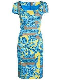 Versace Collection Print Dress - David Lawrence - Farfetch.com