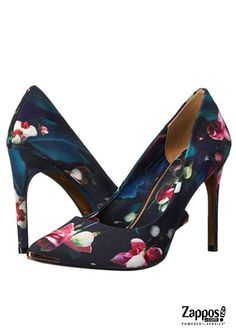 B admired for your stunning style with the dark floral print Ted Baker Neevo 3 pumps!