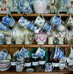 Idea for a collection of assorted china
