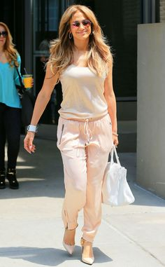 Breezy and beautiful, J.Lo is dressed light and airy while out in NYC.