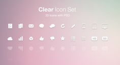 A set of 20 clean action icons at 32px x 32px in size and in PNG format, the original PSD is also included. Free for personal and commercial use.