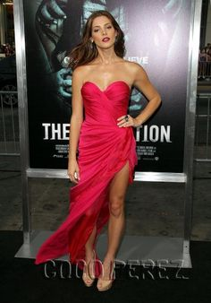 Ashley Greene in Donna Karan Atelier at the Apparition premiere.