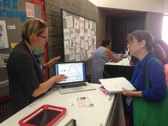 """Shannon Soger & Michelle Thorne talked about creating Blended Ladders at ISTE 2014 during the """"Above the Line Teaching and Learning"""" Poster Session."""