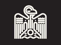 Aztec Bird designed by Pavlov Visuals. the global community for designers and creative professionals. Falcon Tattoo, Falcon Logo, Aztec Shorts, Aztec Art, Egypt Art, Logo Design, Graphic Design, Bird Design, Monogram Logo