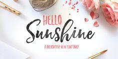 Hello Sunshine font family by Nicky Laatz