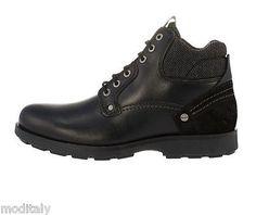 c7425f05855da WRANGLER-scarpe-uomo-GROVE-DARK-BROWN-BLACK-WM162201-polacchino-pelle-lacci
