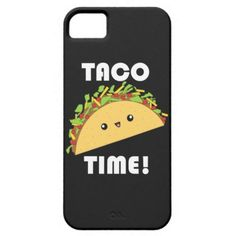 Cute Taco Time! Kawaii iPhone case by Rooshoo!