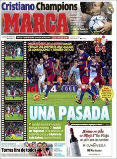 #20160215 #ESPAÑA #SPAIN #PrensaDEPORTIVA #MARCAdiarioESPAÑA Lunes 15 FEB 2016 http://en.kiosko.net/es/2016-02-15/np/marca.html