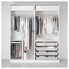 IKEA PAX wardrobe with sliding mirror doors Ikea Pax Wardrobe, Ikea Closet, Diy Wardrobe, Modern Wardrobe, Bedroom Wardrobe, Wardrobe Design, Closet Space, Minimal Wardrobe, Ikea Fitted Wardrobes